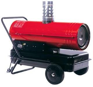 Värmefläkt med diesel som värmekälla