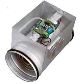 Elektrisk kanalvärmare med inbyggd regulator
